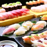 宴会向け寿司、しゃぶしゃぶなどの食べ放題が充実。