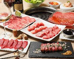 タン2種や赤身、メインはステーキの『Standardコース』5,000円