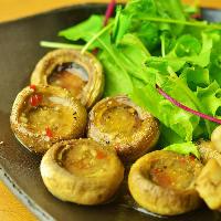 長谷川農産の高品質なマッシュルームを使用。香りも味も一級品!