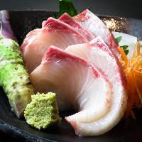 程よく脂がのった黒瀬ぶりなど毎日仕入れる新鮮地魚や季節の海鮮