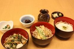 そば三昧 高原野菜の天ぷら、山菜おろし、とろろ、水菓子つき