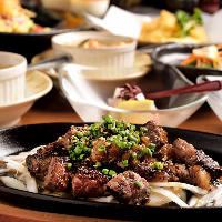 和牛のサイコロステーキはオリジナルソースとの相性抜群です!