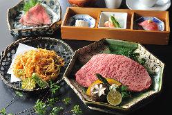 ランチも1850円~ご用意。個室ご利用でお昼の接待にも最適です。