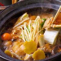 豊橋育ちの名古屋コーチンを使用した『名古屋コーチンの味噌鍋』