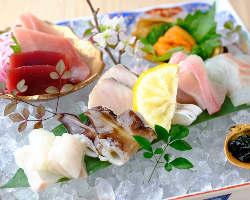 市場より毎日仕入れる鮮魚はその日の内にご提供しております