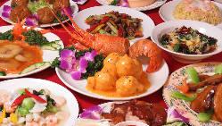 伊勢エビや北京ダックなど豪華食材が味わえるコースもご用意!
