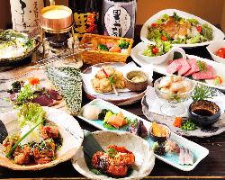 品数、質ともに大満足をお約束◎ 厳選食材満載のコース3000円~