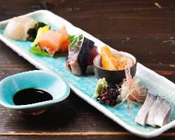 千葉・福井などの漁港から毎日仕入れ 鮮度抜群の旬魚をご提供
