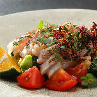 【食材】 地元の新鮮素材を調理。口いっぱいに広がる美味しさ◎