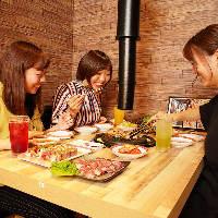 名物サムギョプサルを思いっきり食べ尽くす食べ放題コースが人気