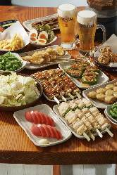 トリキ晩餐会☆食べ・飲み放題☆お一人様2,980円(税込3,278円)