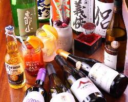 定番のビールから日本酒・カクテル等お料理に合う多種取り揃え!