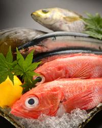 その日に市場で仕入れる鮮魚