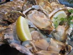 オイスターバーにはやっぱり生牡蠣。厳選して仕入れてます。