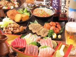 【宴会コース】 会社宴会等は飲み放題付きコースで♪3500円~