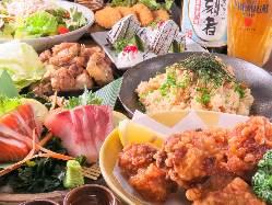 【宴会コース】 会社宴会等は2時間飲み放題付コース3500円から