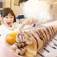 大人気!手作り綿菓子&クレープ (ディナー・土日祝ランチ)