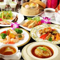 シーンに合わせて選べる本格四川料理や高級食材が味わえるコース