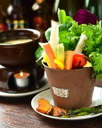 自家農園の野菜を使用しています。獲れたて新鮮なお野菜です♪