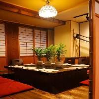 和を感じる店内。落ち着いてお食事をお楽しみいただけます。