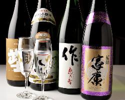 日本酒愛好家必見!作や家康など大吟醸も飲み放題!飲み比べも◎