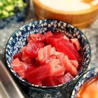★ネギトロ、魚の切り身は、そのままお刺身で、海鮮丼で!