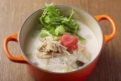 『明太キノコクリーム茶鍋』