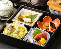 開店から不動の人気!焼物の沖めだいの柚庵焼きは花心亭伝統の味