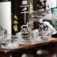 店長厳選日本酒3種飲み比べ。日本酒好きスタッフおすすめも有