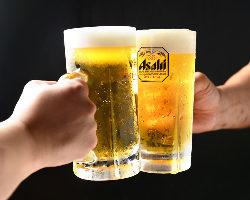 串カツにはやっぱりビール!毎日通える会社帰りからご宴会まで