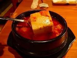 定番の純豆腐チゲ!ごはんを入れてお召し上がりください♪