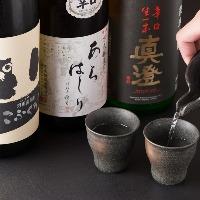 日本酒・焼酎なで多数ご用意しております。