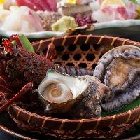 【新鮮魚介】伊勢海老・鮑・サザエなど伊豆には新鮮な魚介豊富。