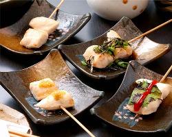 【おススメ】ささみ 串。様々な食べ方でお試し下さい。160円~
