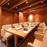 ソファーシートの広々テーブル個室は12名様までのご宴会が可能