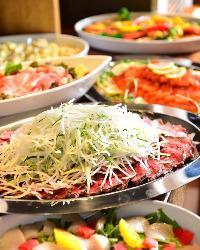 ビュッフェ、大皿、お料理のご提供方法を選択できます!