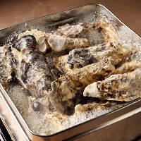 漁師風の牡蠣のがんがん焼き!広島産牡蠣を存分に堪能