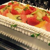 自分達らしいWD二次会を満喫!自家製ケーキのご用意も可能です