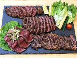 ステーキ3種ローストビーフ付850g4000円は木曜3000円