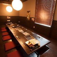 【個室】 4~6名様用掘りごたつ席完全個室完備。2階は貸切可能