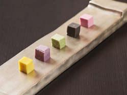 インスタ映えもするアートのような御料理。厳選した食材を使用。