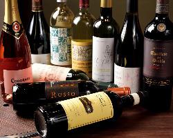 種類豊富なワイン♪誕生日にはシャンパン&デザートプレゼント!