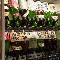 こだわりの日本酒が飲み放題で20種以上お楽しみ頂けます!