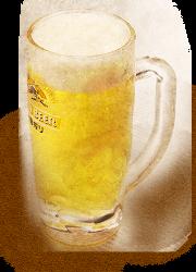 定番のビールをはじめ、豊富にお酒類をご用意しております。