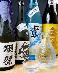 プレミアム焼酎、日本酒取り揃えてます