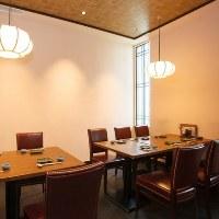 和モダンなテーブル席完全個室は8名~10名様。接待やご宴会に。