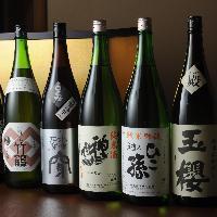 日本酒の種類は80種類以上!お好きな日本酒をご堪能ください。
