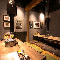 賑やかでアットホームな店内には最大12名様までの個室も完備!
