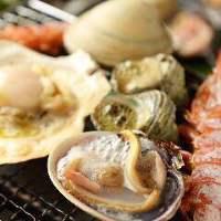 新鮮な魚介類のバーベキューをお楽しみください!