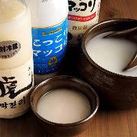 マッコリをはじめ、韓国酒をご用意しています!
